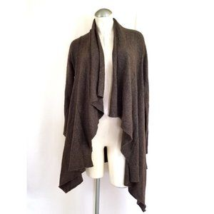 Free People Size S Brown Open Cardigan Wool Blend